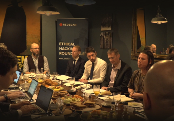 Panelists at Redscan's Ethical Hacking Roundtable