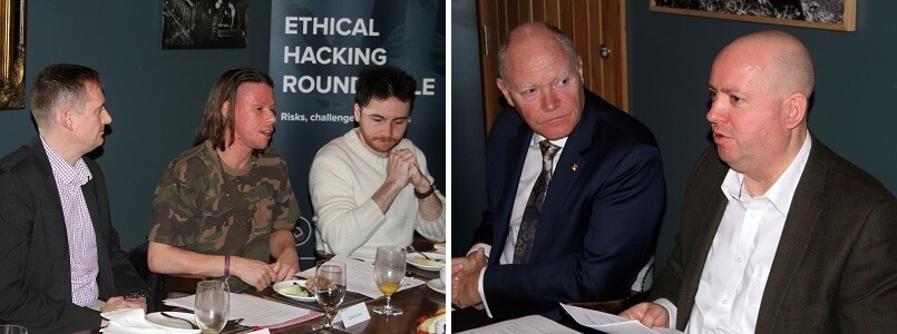 Panellists in discussion at Ethical Hacking Roundtable