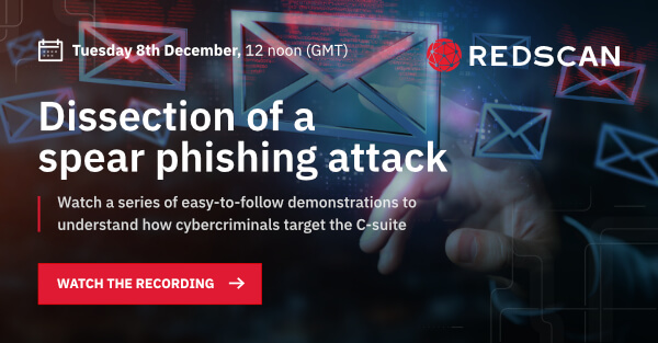 Spear phishing attack webinar graphic