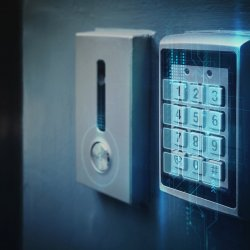 A keypad restricting security access