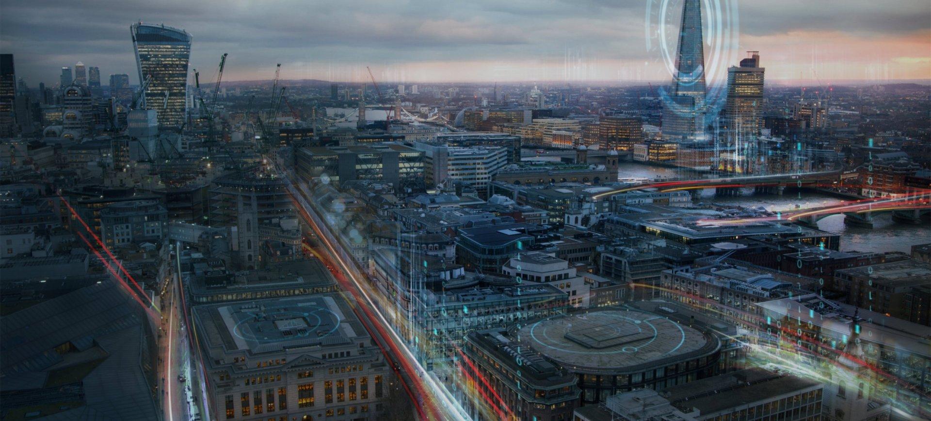 Digital skyline image of London
