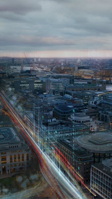 Digital skyline image of London