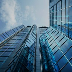 Image of tall building of financial company