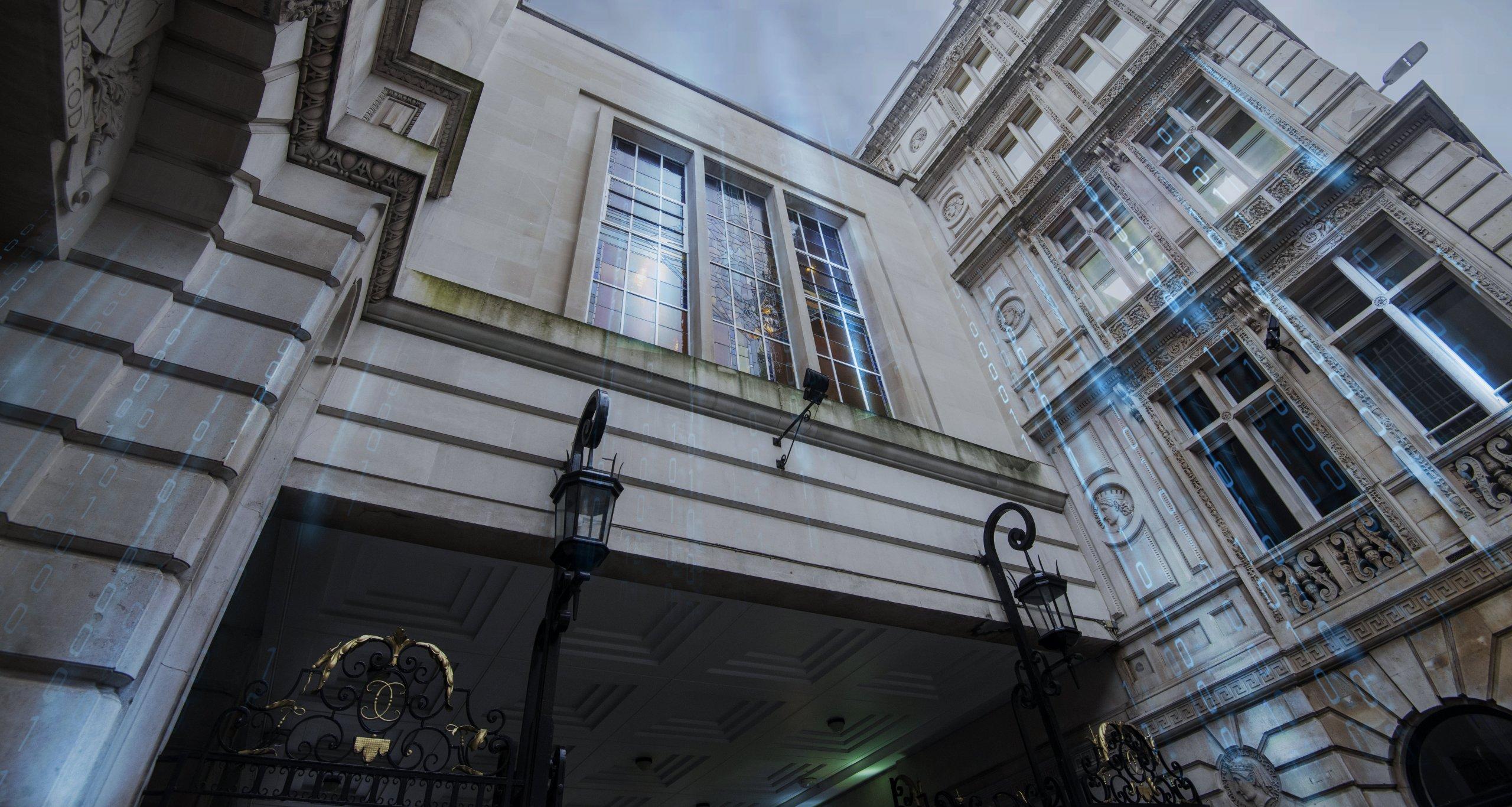 Outside Redscan's office in London