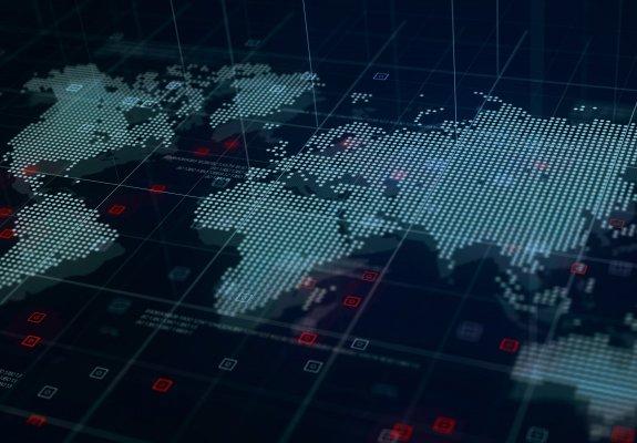 Map of global threat intelligence